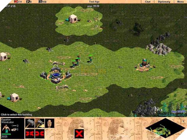 Một cảnh trong game Đế chế phiên bản đầu tiên.