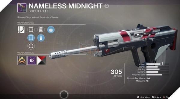 Nameless Midnightđược các game thủDestiny 2tin dùng trong các hoạt độngPvE