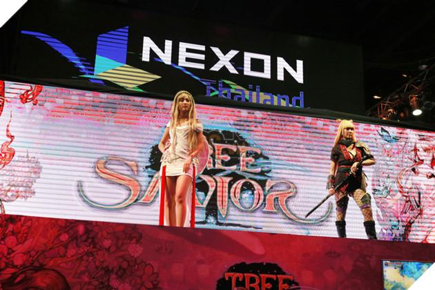 Gian hàng của Nexon là một trong những điểm thu hút được đông người nhất, nổi bật là sản phẩm Tree of Savior.