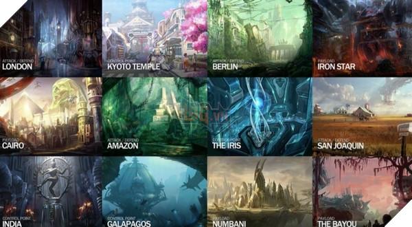 Các bản đồ trong Overwatch dựa trên nhiều địa điểm nổi tiếng, nhưng chỉ 1 vài bản đồ được dùng