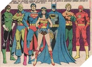 Những thành viên sáng lập của Justice League.