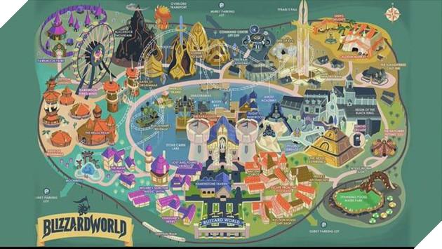 Toàn cảnh bản đồ Blizzard World trong Overwatch ... khá rộng đấy!