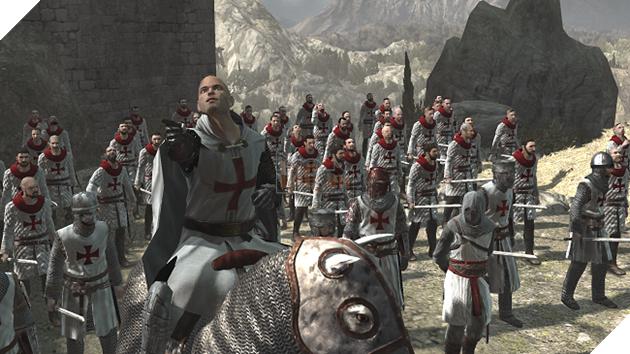 Hình ảnh quân Templar tấn công Masyaf, pháo đài của Hội Sát thủ