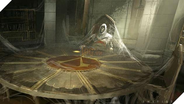 Ảnh mô phỏng Altair qua đời trong thư viện ở Masyaf