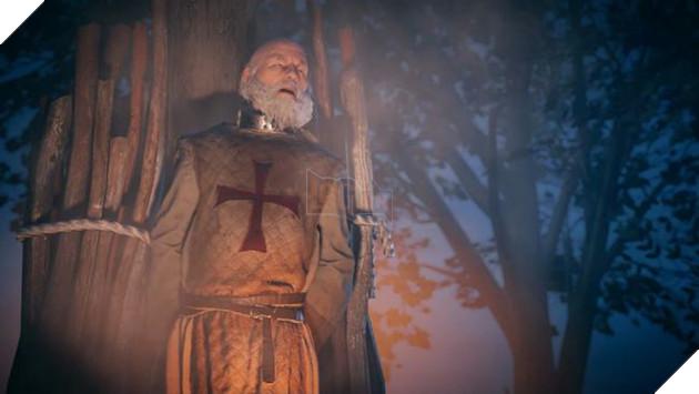 Jacques de Molay bị thiêu sống khi Đức Giáo hoàng giải thể Hội Templar