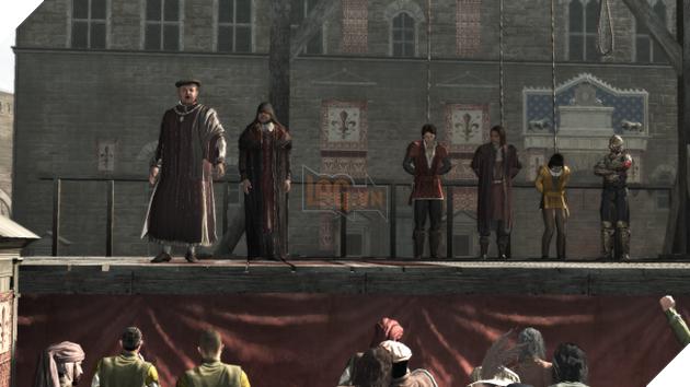Giovanni Auditore cùng hai người con trai bị xử tử công khai