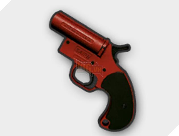 Flare Gun, khấu súng chuyên dụng dùng để bắn pháo sáng. Trên thực tế, khả năng gây sát thương của khấu súng này là rất thấp. Tuy vậy, khi xuất hiện trong PUBG, nó có lẽ sẽ được cải tiến đi chút ít để có nhiều tác dụng hơn.