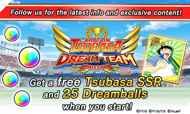 Sau khi Like và Follow người chơi sẽ nhận được nhân vật Tsubasa Ozora phiên bản The Ball is my best Friend cấp SSR và 25 Dreamballs