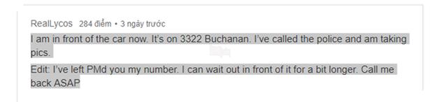 Nhờ Twitter và Reddit, chàng trai tìm thấy chiếc xe bị mất cắp trong chưa đầy 24 giờ - Ảnh 4.