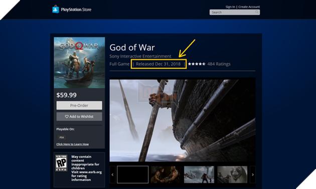 Sony đính chính ngày ra mắt của God of War, game thủ sẽ phải chờ dài cổ thêm một thời gian nữa