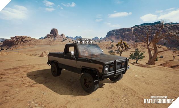 Không chỉ có xe bus, bản đồ sa mạc PUBG còn có cả chiếc xe tải ngầu hết nấc
