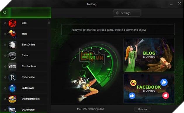 NoPing - Tool giảm ping/lag cho mọi tựa game mở miễn phí vô thời hạn tại Việt Nam 3