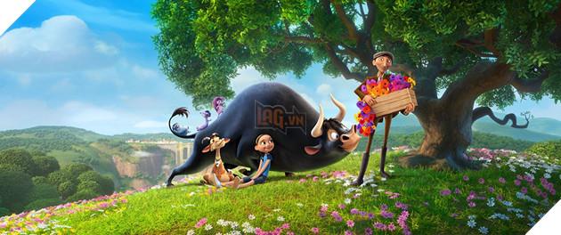 Review Phim Ferdinand : Hành trình của chú bò tót yêu hoa cỏ