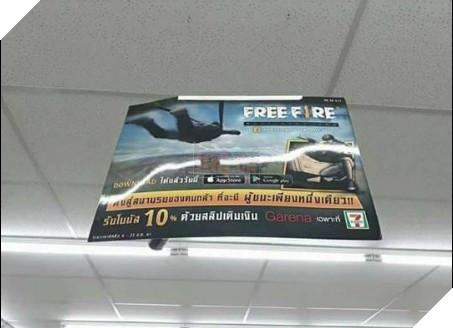 Banner quảng cáo Free Fire của Garena tại Thái Lan