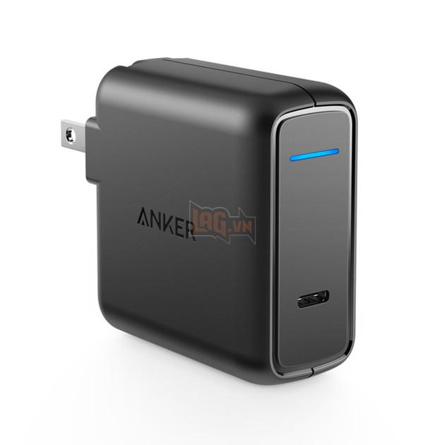 Củ sạc Anker này có công suất 30w, dùng được cho cả máy Macbook, iPhone và iPad.