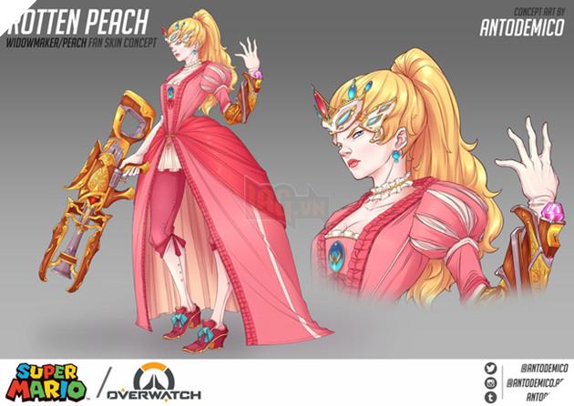 Widowmaker trong bộ váy công chúa Peace