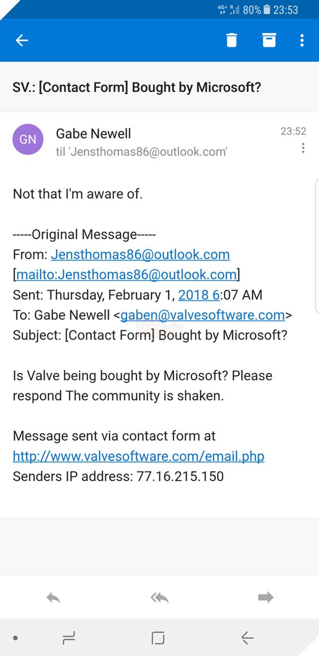 Gabe xác nhận, Microsoft còn lâu mới mua được Valve