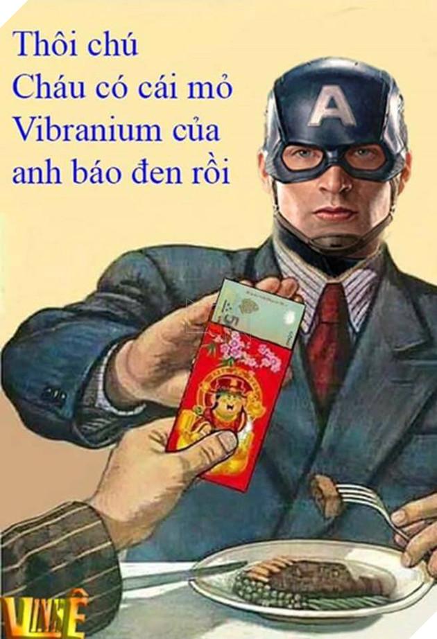 Phản ứng bá đạo của các siêu anh hùng khi được nhận lì xì đầu xuân