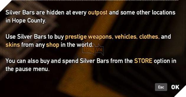 Silver Bars có thể tìm thấy trong game, hoặc mua thông qua cửa hàng của game