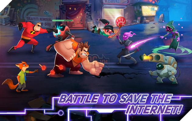Disney Heroes: Battle Mode - Nhập vai các nhân vật hoạt hình cực vui nhộn trong thế giới Disney