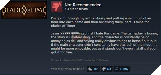 Lạy Chúa tôi kinh tởm cái game này. Chơi thì chán, cốt truyện game lại chẳng hai, và nhân vật thì làm người chơi ức chế khó tả mà lại còn cứ nói ra những điều mà ai cũng biết. Nếu như nhân vật chính mà không phun chữ như phun c* thì có lẽ game đã hay hơn, nhưng nếu cứ như thế này thì bạn đừng chơi, kể cả khi game miễn phí.