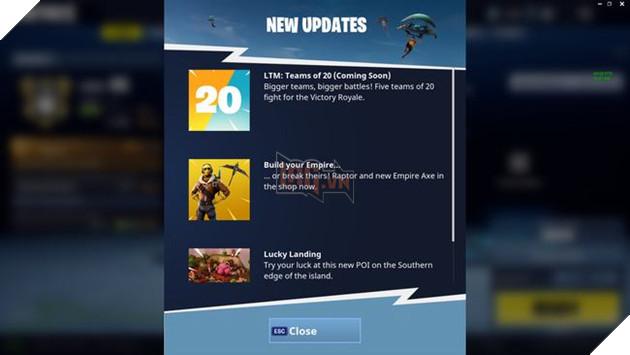 Fortnite: Battle Royale chuẩn bị bổ sung chế độ mới, 20 đấu 20
