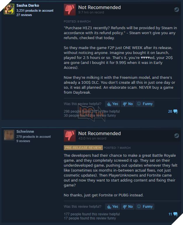 H1Z1 vừa ra mắt đã cho chơi miễn phí, hàng nghìn game thủ phẫn nộ vì cảm giác bị lừa đảo