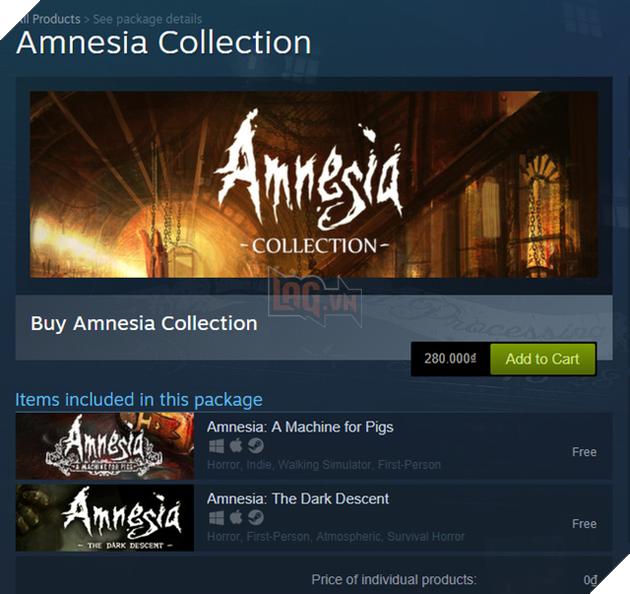Chỉ cần có tài khoản Steam, bạn sẽ tiết kiệm được 280.000 VNĐ và sở hữu ngay bộ đôi game kinh dị siêu am ảnh Amnesia