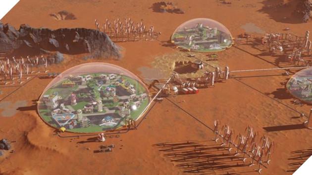 Không có không khí, các thành phố trong Surviving Mars phải được xây trong khu mái vòm