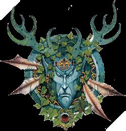 Hình ảnh một cung thủ củaWood Elvesvà huy hiệu đặc trưng củaWood Elves