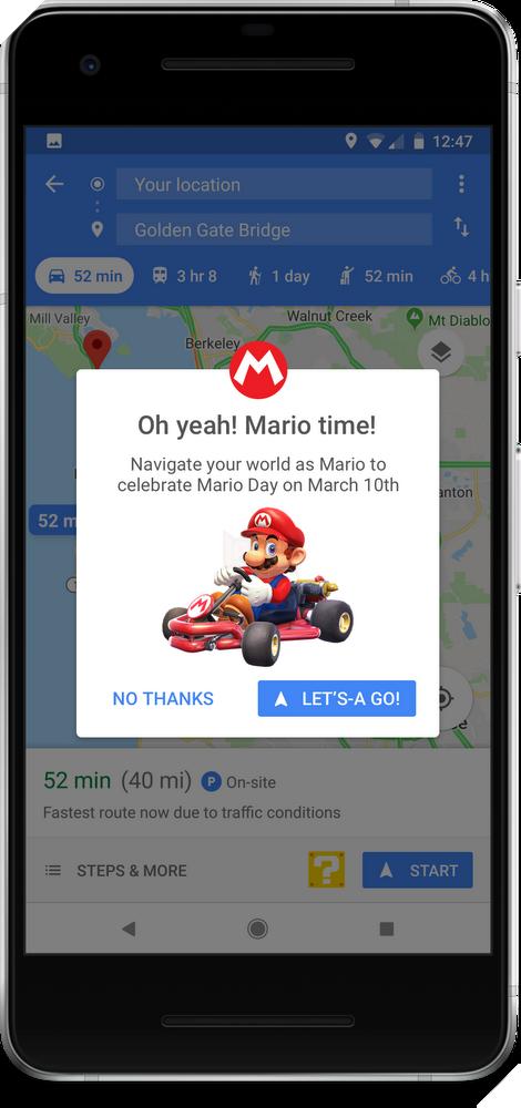 Đã có thể đua xe Mario Kart trên bản đồ Google Maps rồi đấy, bạn đã thử chưa?