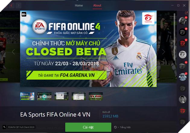 Garena chính thức mở tải FIFA Online 4, download ngay về máy để chơi vào ngày mai 22/3