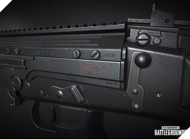 RIFLE 7.62, thông số kỹ thuật quan trọng về khẩu FN FAL được PUBG giới thiệu