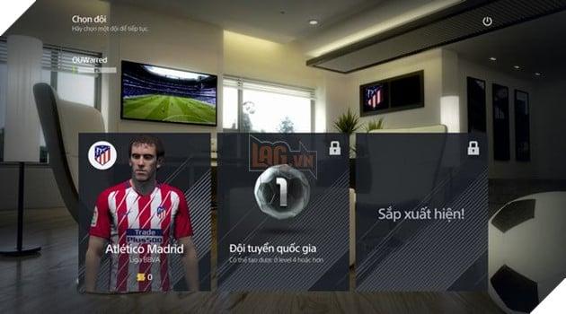 Màn hình chọn đội sau khi đăng nhập vào game