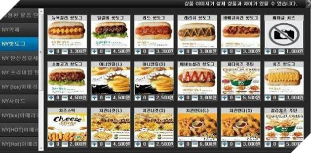 Thực đơn cực phong phú tại quán Net Hàn Quốc
