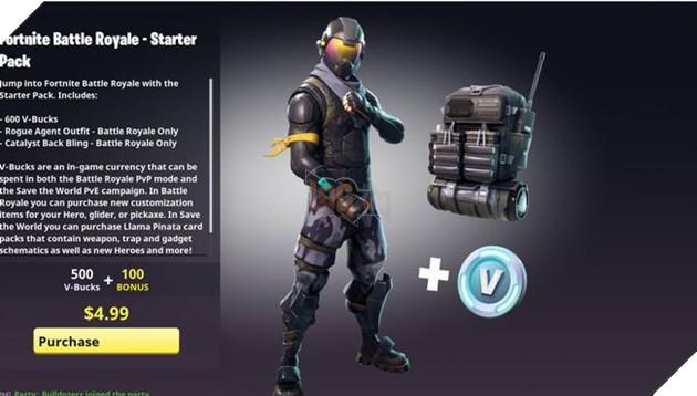GóiStarter PackcủaFortnite Battle Royale