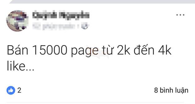 Ngay khi tính năng Load Page được mở khóa lại tại Việt Nam vào đêm qua, trên Facebook đã xuất hiện rất nhiều bài post rao bán Page