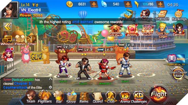 Vì mới chơi được vài ngày nên tác giả bài viết và game thủ Quyền Vương 98 Việt Nam nói chung đều sở hữu võ sĩ có cấp độ và cấp sao khá thấp.