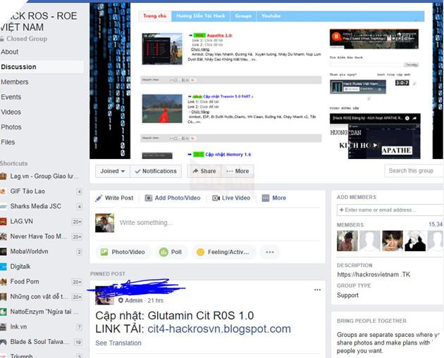 Hack ở ROS chưa đủ, Game thủ Việt truyền tay nhau bản hack