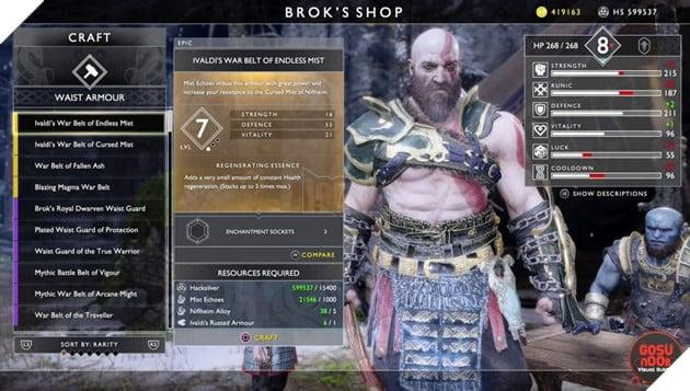 God of War: Top 10 bộ giáp-găng-đai tốt nhất cho Kratos 12