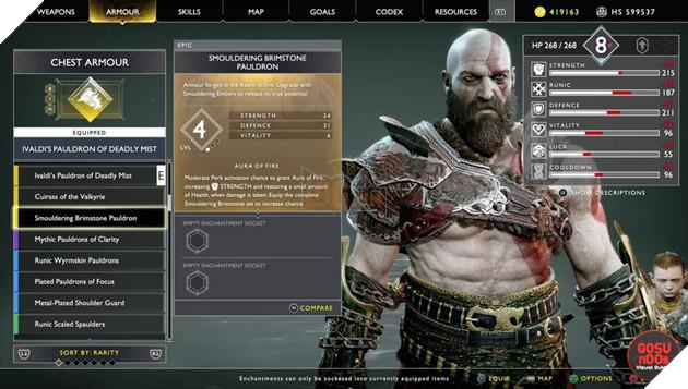 God of War: Top 10 bộ giáp-găng-đai tốt nhất cho Kratos 14