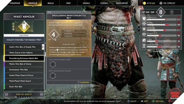 God of War: Top 10 bộ giáp-găng-đai tốt nhất cho Kratos 16