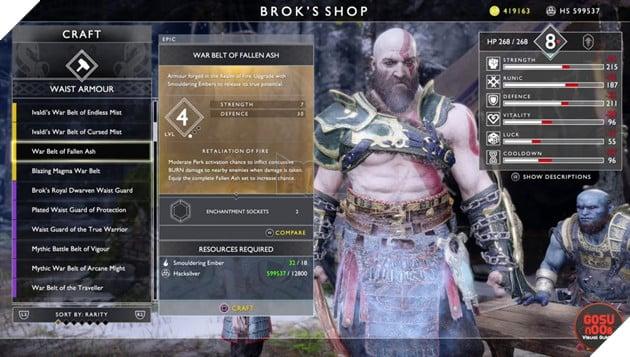 God of War: Top 10 bộ giáp-găng-đai tốt nhất cho Kratos 20