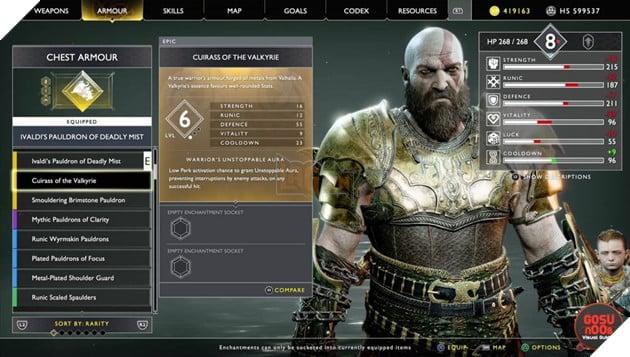 God of War: Top 10 bộ giáp-găng-đai tốt nhất cho Kratos 26