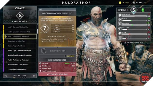 God of War: Top 10 bộ giáp-găng-đai tốt nhất cho Kratos 2