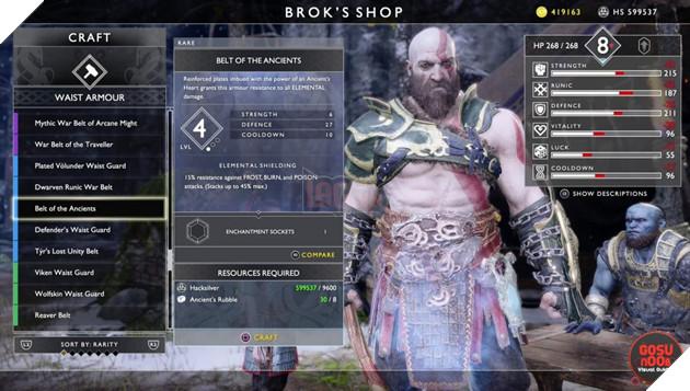 God of War: Top 10 bộ giáp-găng-đai tốt nhất cho Kratos 40