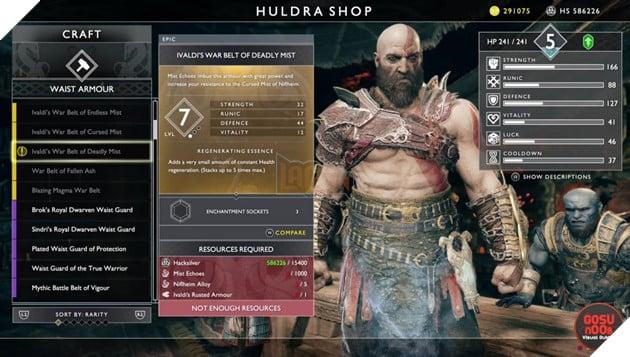 God of War: Top 10 bộ giáp-găng-đai tốt nhất cho Kratos 4