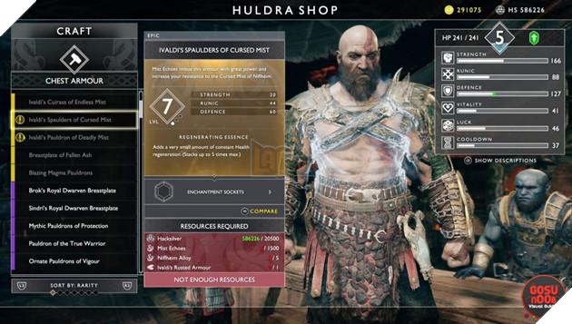 God of War: Top 10 bộ giáp-găng-đai tốt nhất cho Kratos 6