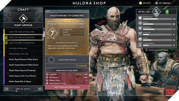 God of War: Top 10 bộ giáp-găng-đai tốt nhất cho Kratos 8