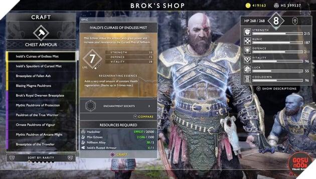 God of War: Top 10 bộ giáp-găng-đai tốt nhất cho Kratos 10
